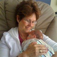 Grandmother holding preemie