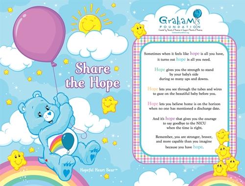 Share the Hope Care Bears card