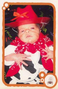 Preemie in NICU dress in Halloween costume