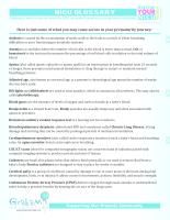 NICU Glossary PDF