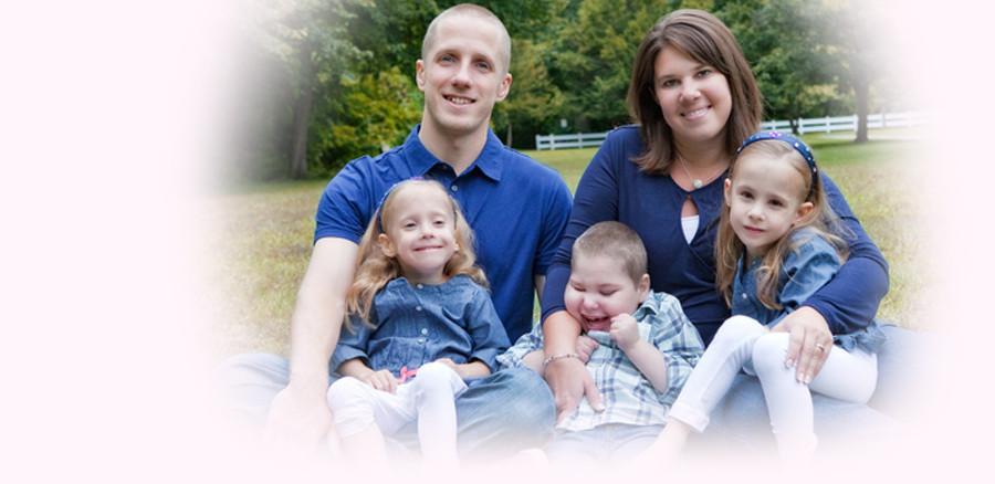Family with children that were born premature
